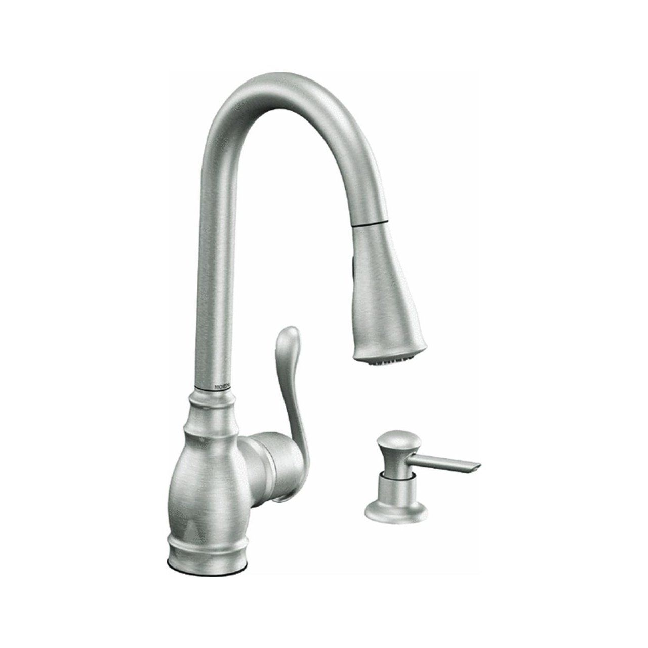 moen ca87003srs single handle kitchen faucet with pullout spray from rh pinterest nz