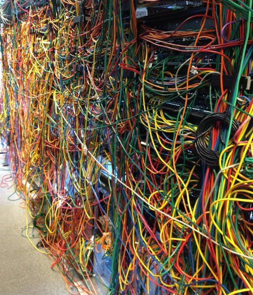 server room from hell if your server room looks like this see rh pinterest com Network Wiring Closet Residential Wiring Closet