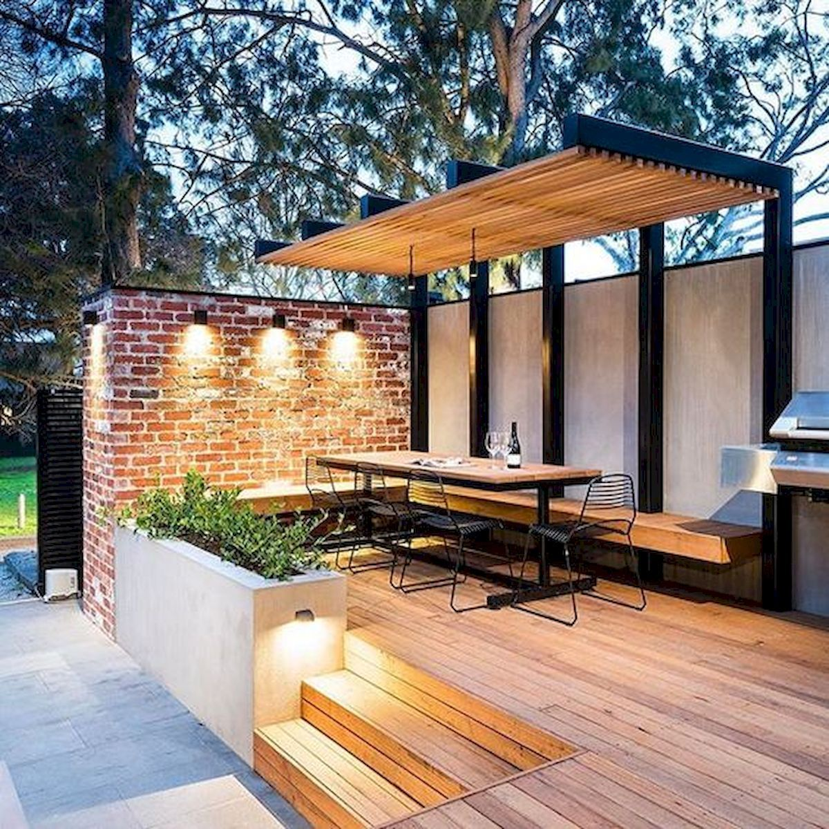 23 Awesome Built In Planter Ideas To Upgrade Your Outdoor Space 19 Backyard Pergola Backyard Pergola