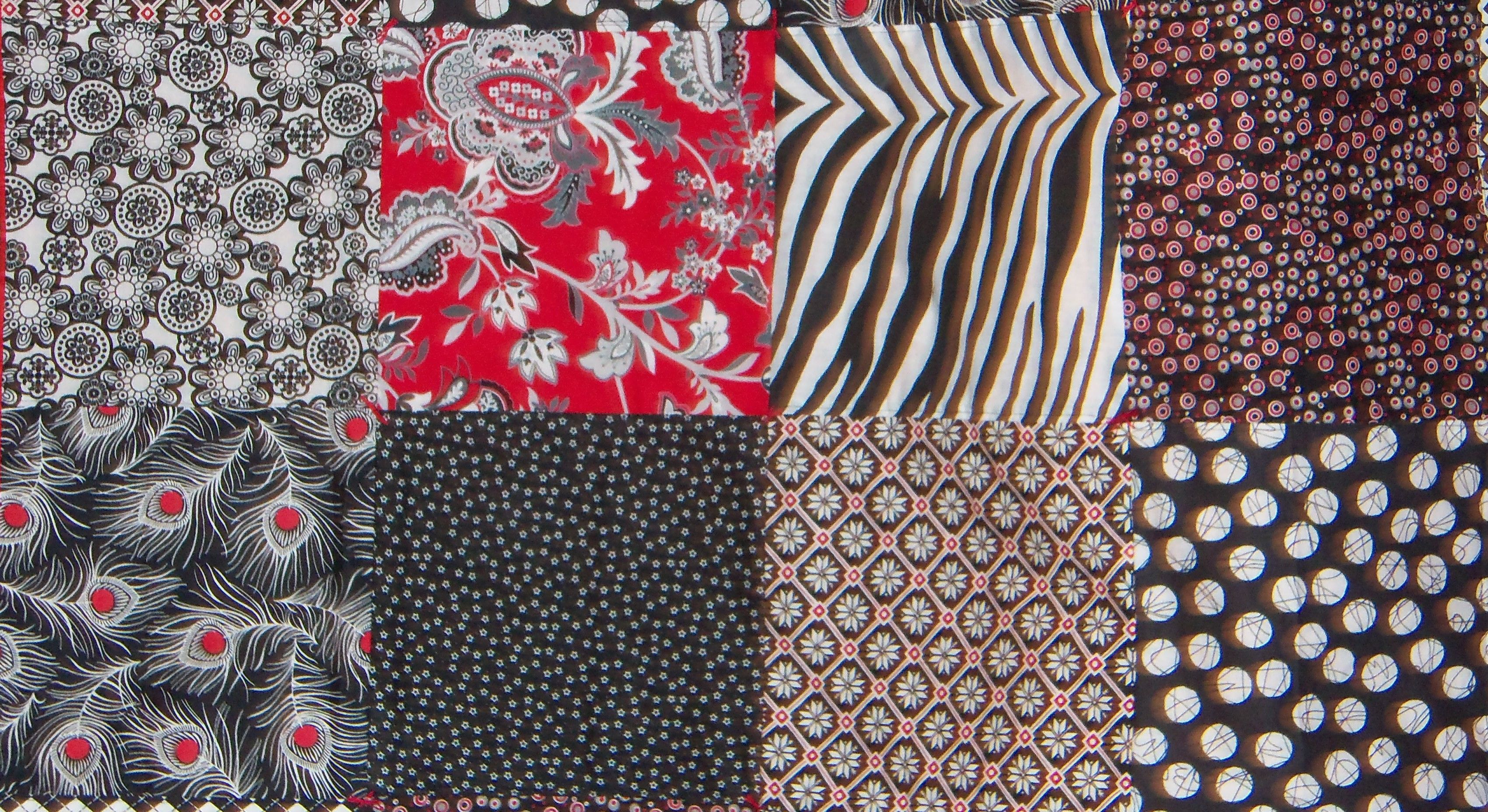 My Black/White and Red baby quilt by Michele Morrill