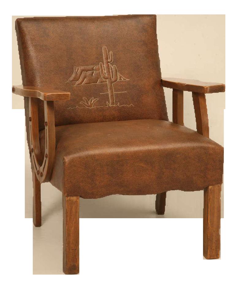 original vintage cowboy ranch oak armchair w horseshoe arms rh pinterest com
