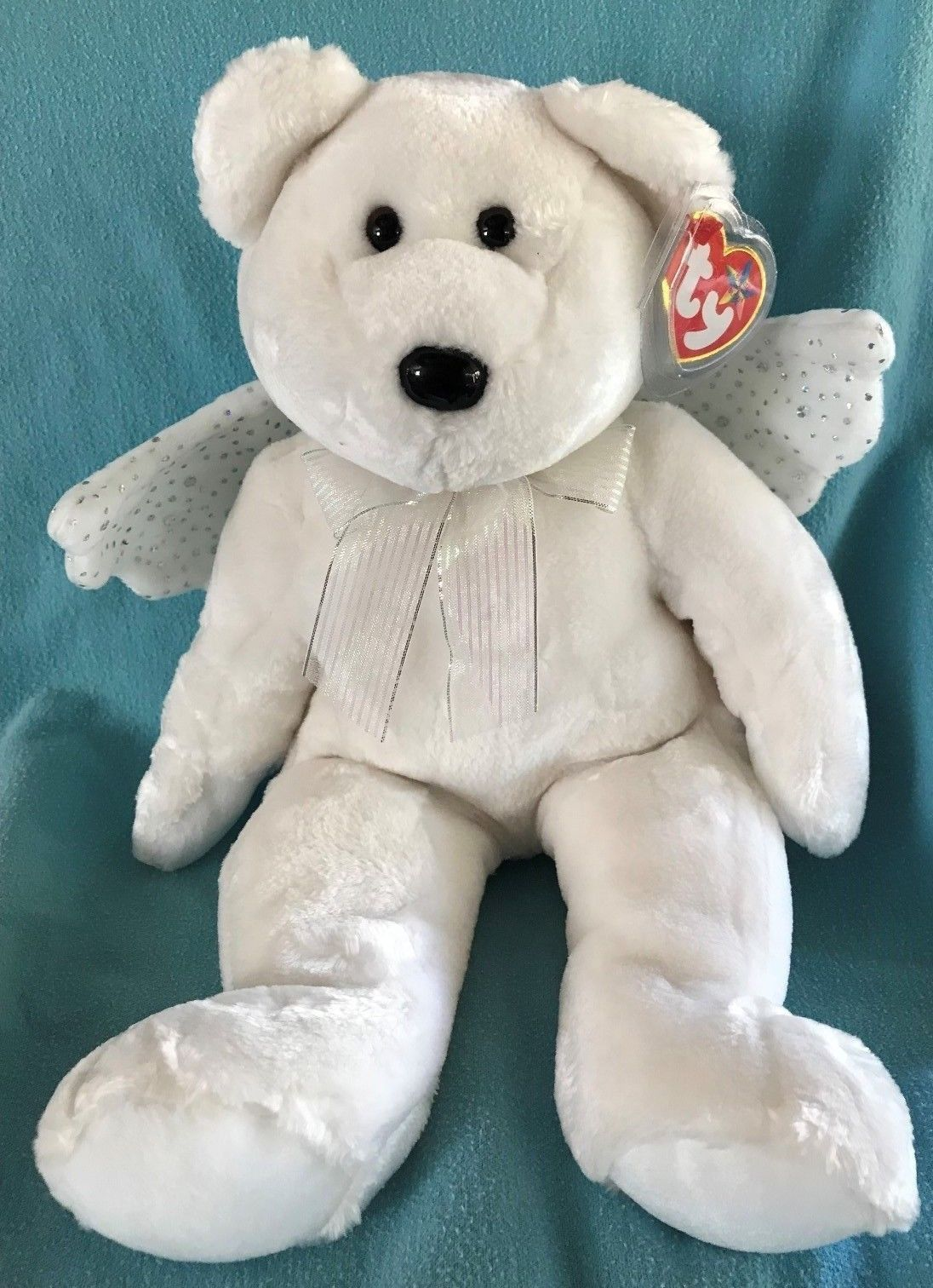 TY Beanie Buddy HERALD the Angel Bear 14 MWMT Vintage Stuffed Animal 2003 b428207590bc