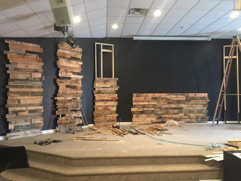 Leaning Towers of Pallets | Church design sanctuary ...