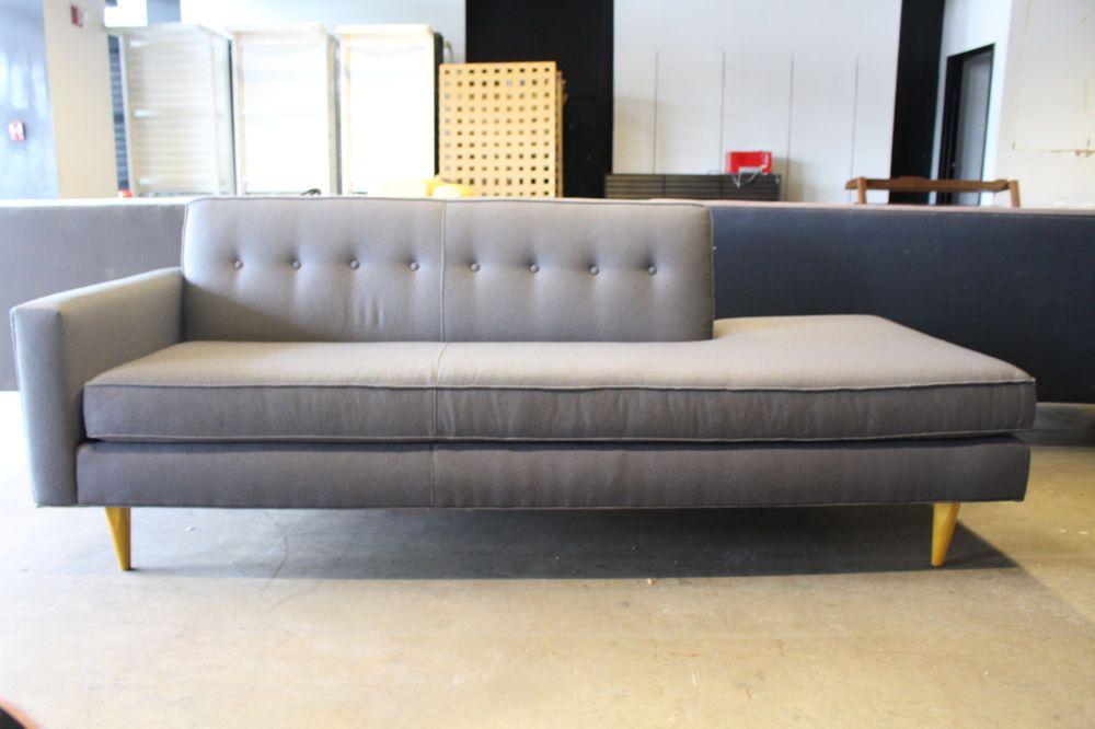 Bantam Studio Sofa Left Pewter Maharam Milestone Design Within Reach