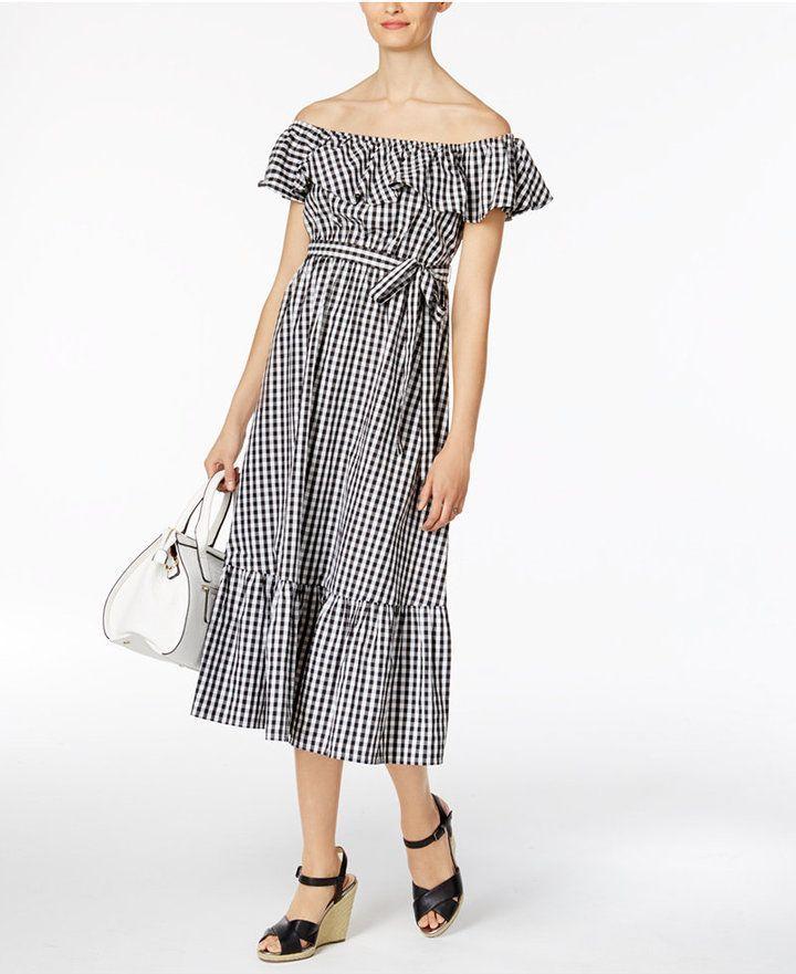 e6e9b1a09a23 Olivia   Grace Cotton Off-The-Shoulder Midi Dress