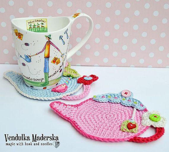 Crochet pattern - Teapot Coaster by VendulkaM / Kitchen table ...