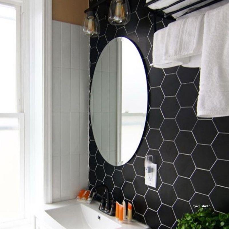 exagoni puro grafito brillo ceramic wall tile in 2019 bathroom rh pinterest com