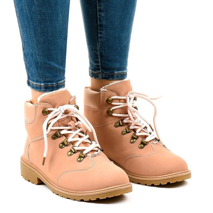 Rozowe Traperki Ocieplane Ds1702 Boots Boot Shoes Women Womens Boots