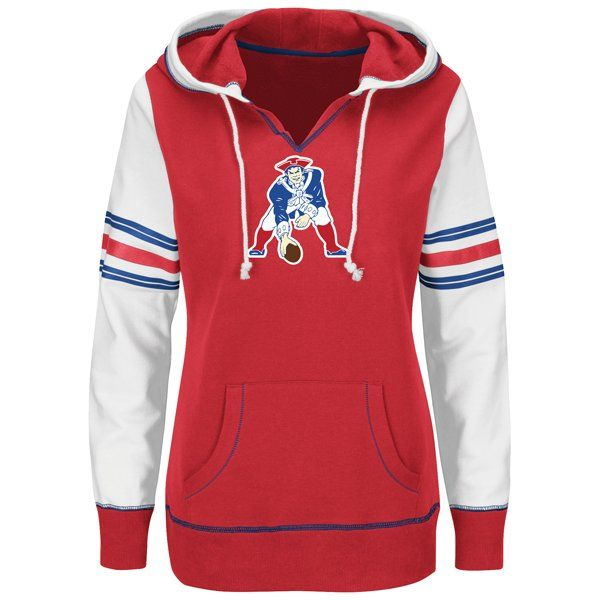 7ad4f41d2 Ladies Majestic Throwback Obsession Hood-Red White