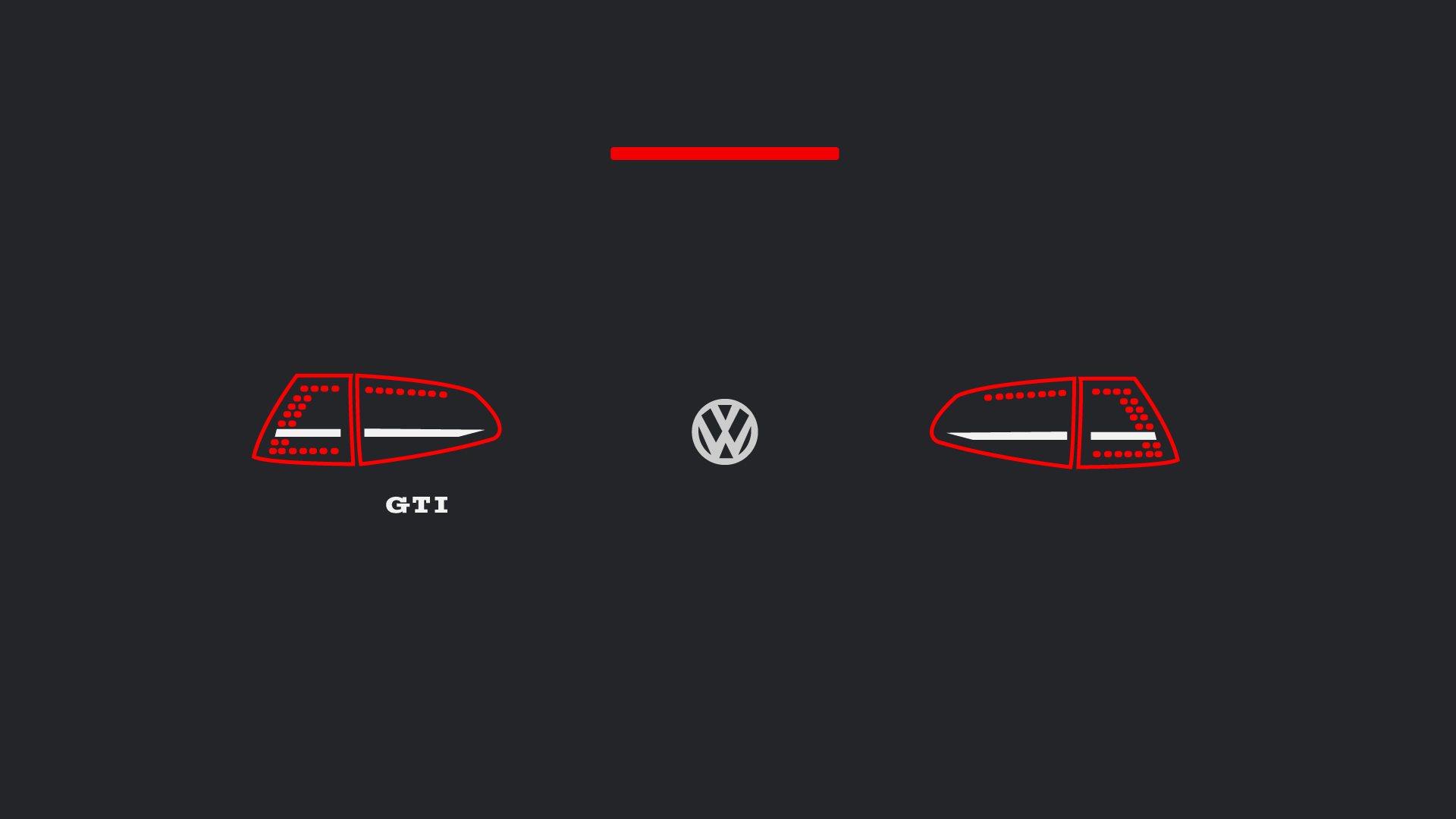 Mk7 Gti Euro Taillights Minimalist Wallpapers 1920 X 1080 Gti Golf Gti Gti Mk7