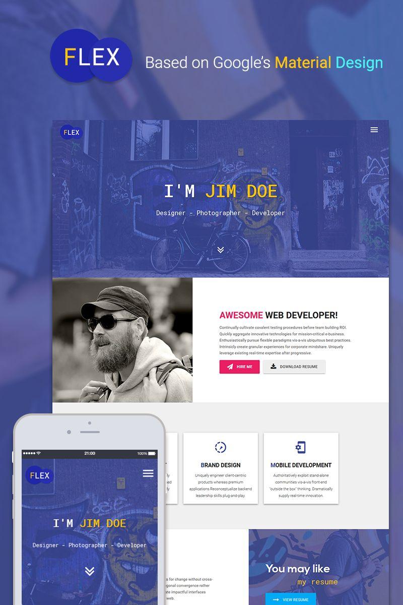 Flex Portfolio Resume Website Template Avec Images