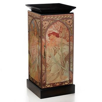 "Style at Home with Margie 33"" Mucha-Inspired Pedestal Cabinet"