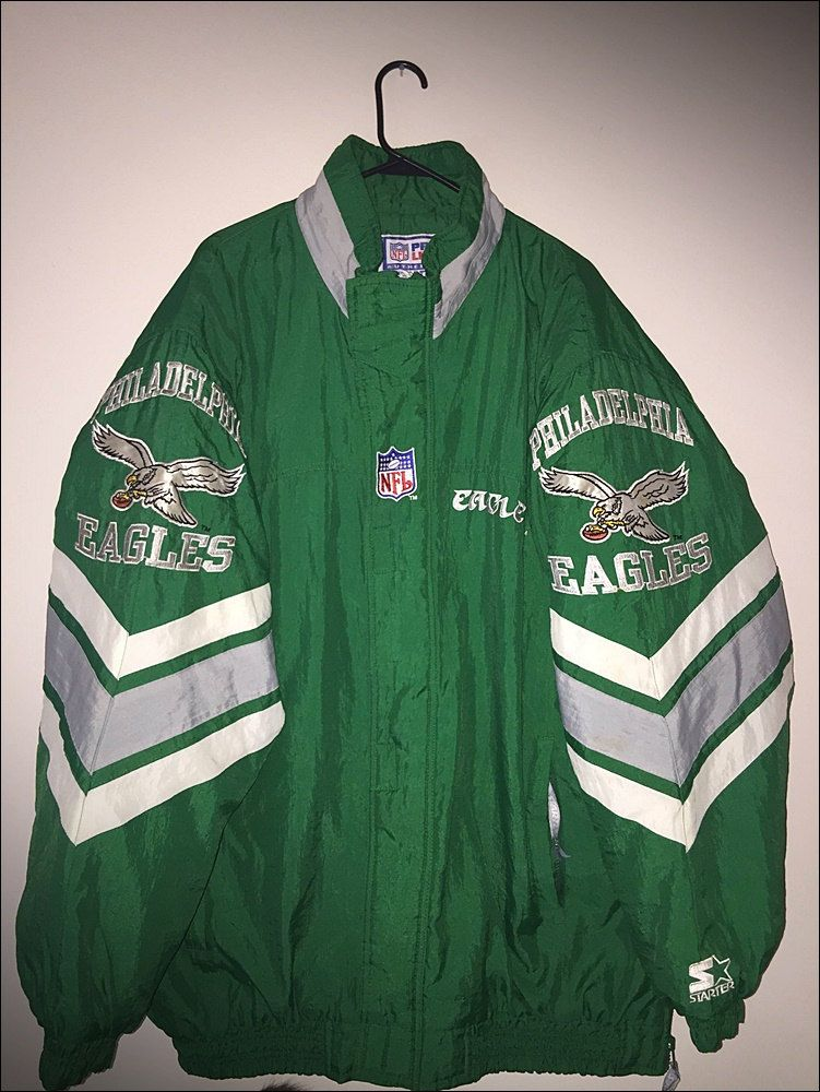 sports shoes c1278 16ade Vintage 90's NFL Philadelphia Eagles Starter Winter Coat ...