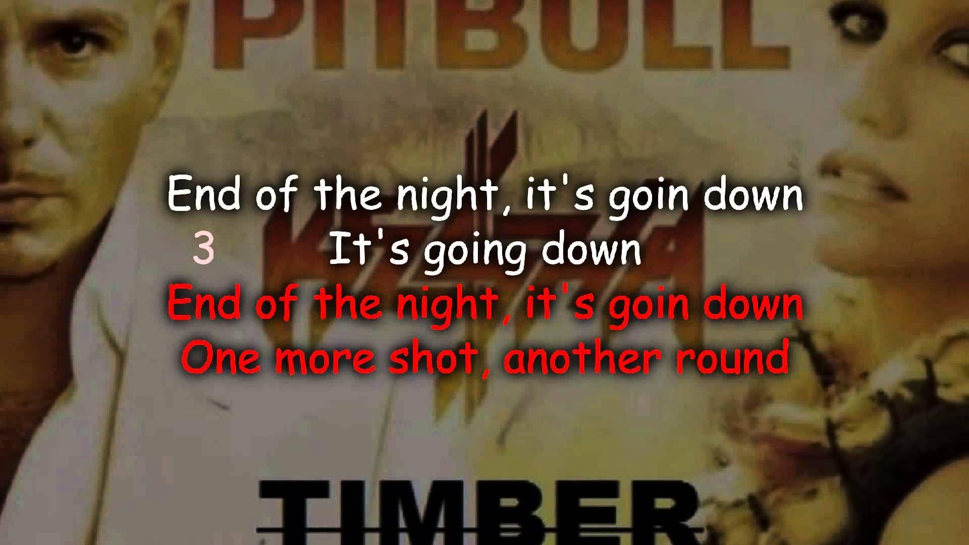 Pitbull ft. Keha Timber [Karaoke/Lyrics] (With images