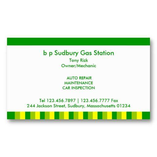 Gas Station Business Card Zazzle Com Gas Station Bp Gas Business