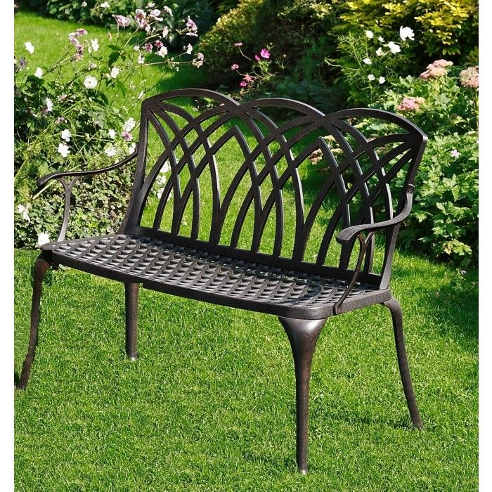 Discover the stunning April Metal Garden Bench