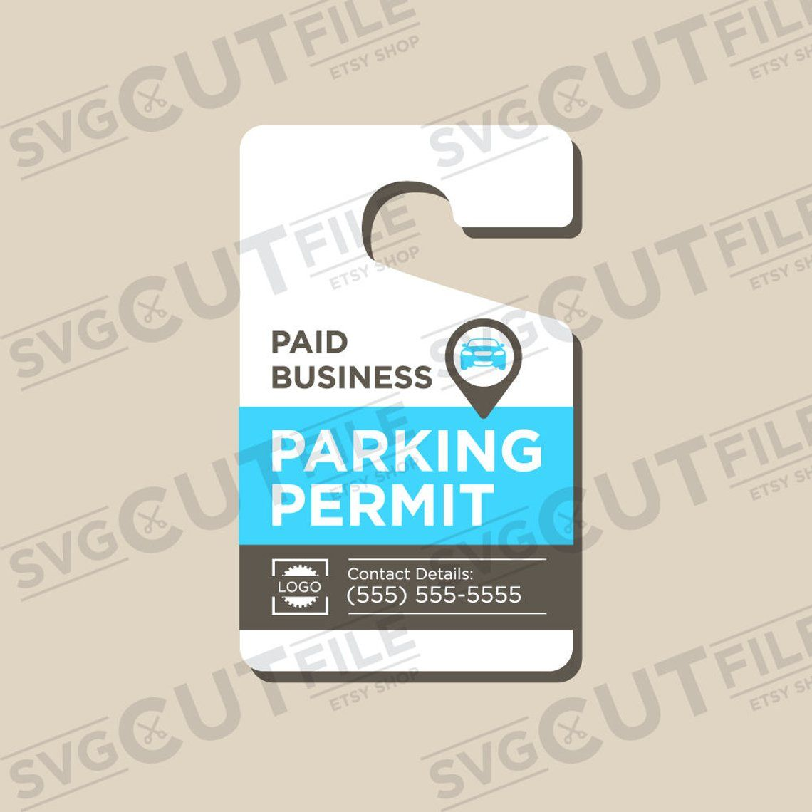 photo about Printable Parking Pass titled Parking p svg parking make it possible for placard dangle tags
