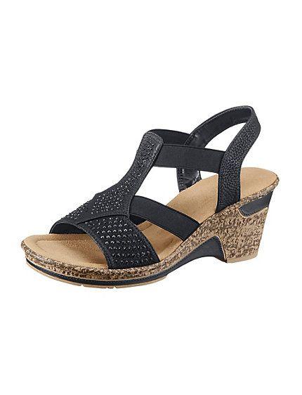 Acheter Rieker Sandalette Rieker Schwarz Dans La Boutique En Ligne Heine Womens Sandals Shoes Women Shoes