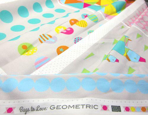 Bags to love: Geometric farbenmix Designstoff
