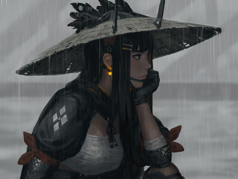 GUWEIZ samurai women warrior fantasy girl fan art