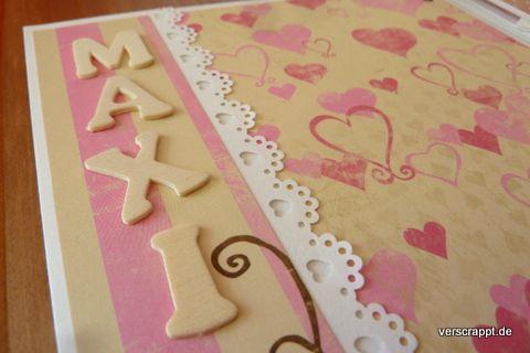 Baby-Album-Babyalbum-Minialbum-Minibook-Geburt-Lila-rosa-Mädchen-Herzen-creme-Stern-6x6-inch-Mini-Ringbindung-Ringe-Journaling-Spots-S02-Detail-Name-Holz-Buchstaben