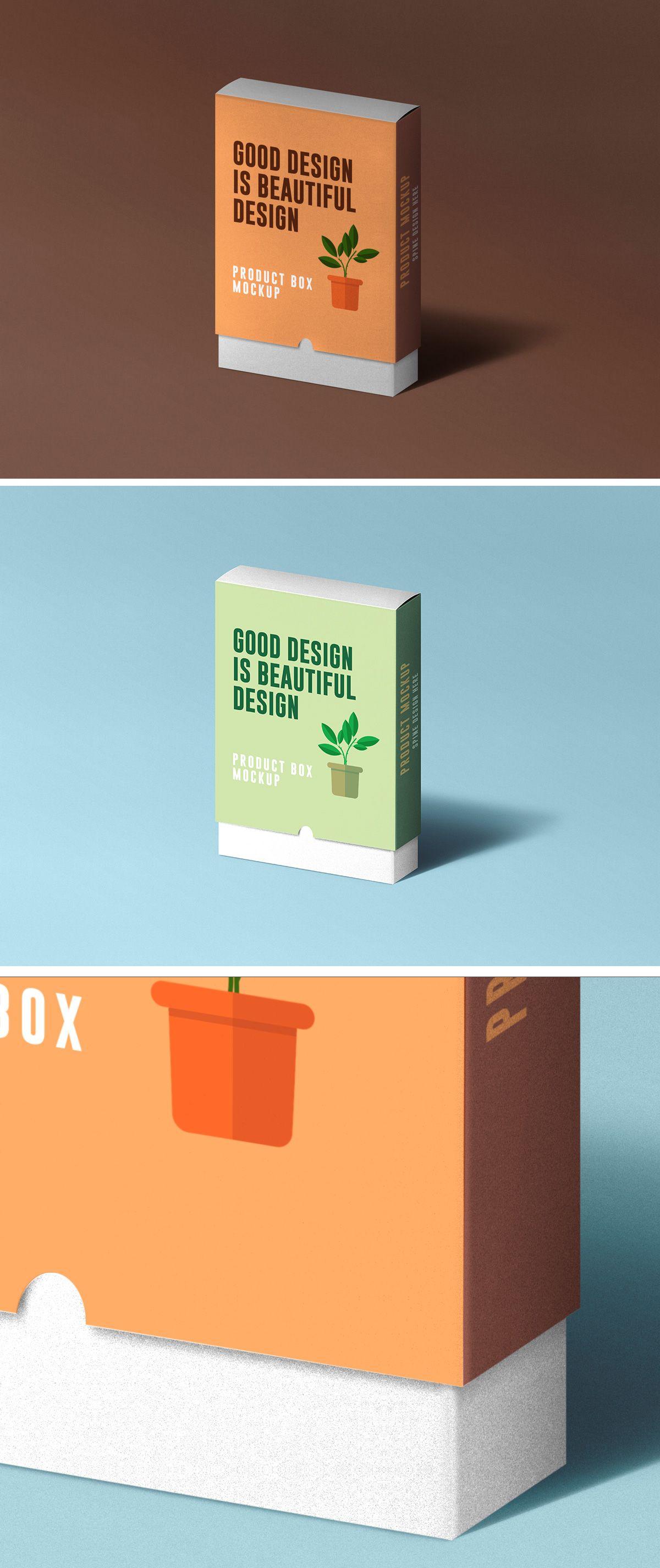 Download Slide Product Box Mockup Box Mockup Mockup Psd Free Packaging Mockup