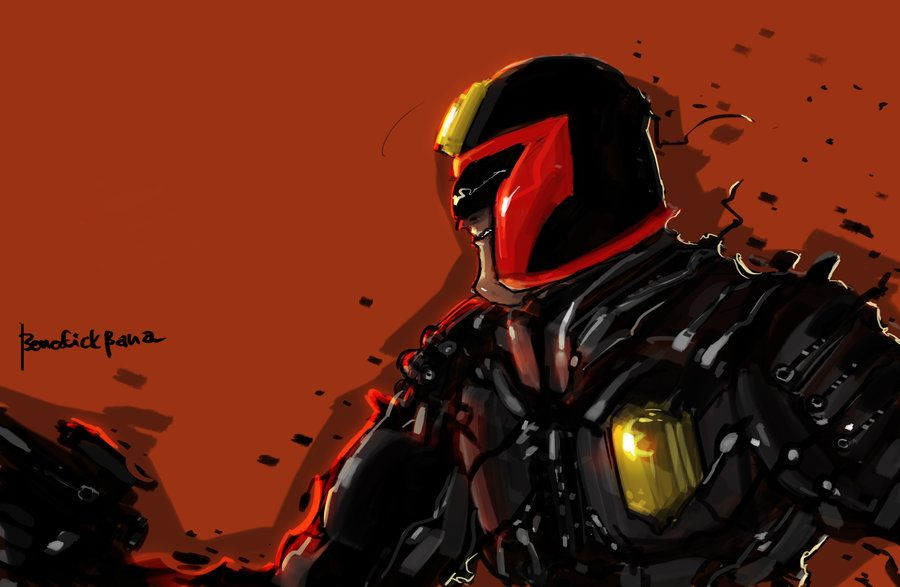 Judge Dredd made by benz322000 for me by *grandmoonma on deviantART