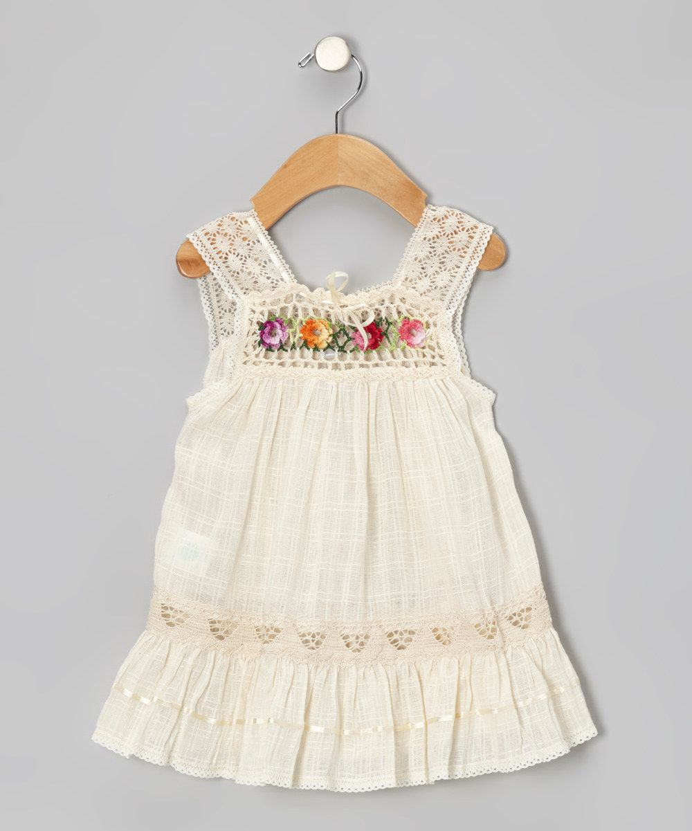 Boho embroidered baby toddler dress girl boy