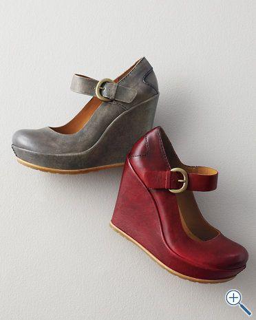 Kork-Ease® Yuli Leather Wedge Shoes
