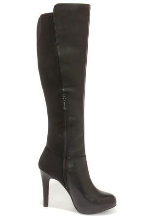 High heel boots knee
