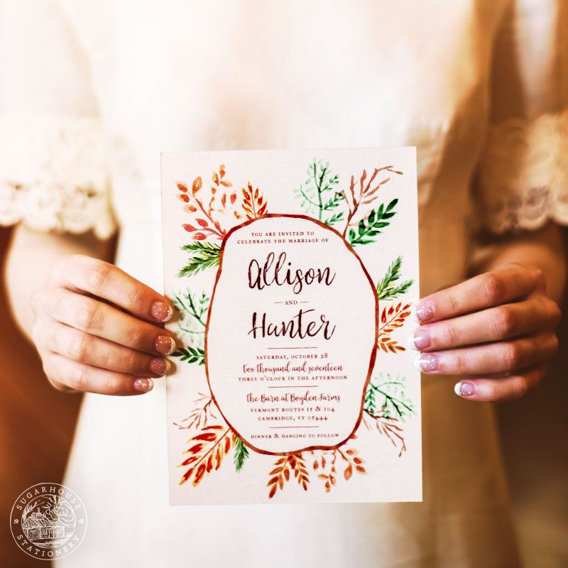 the wedding invitation company%0A     the beauty and peacefulness of the Pocono Mountains in Eastern  Pennsylvania  Created by Sugarhouse Stationery wedding invitation company  in Williston