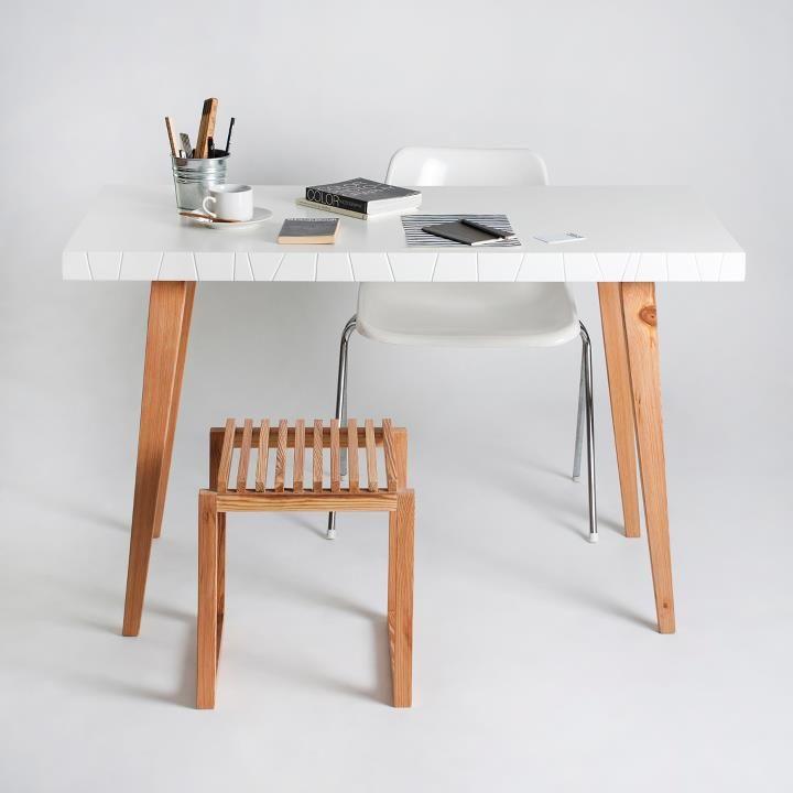 Mesa de Oficina. Euro 2000. Color Blanco. 120x80 cm | Mesa