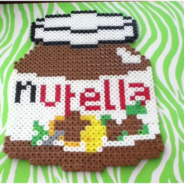Perler Bead Nutella Jar By Alyssa S Adorable Crafts Projekter