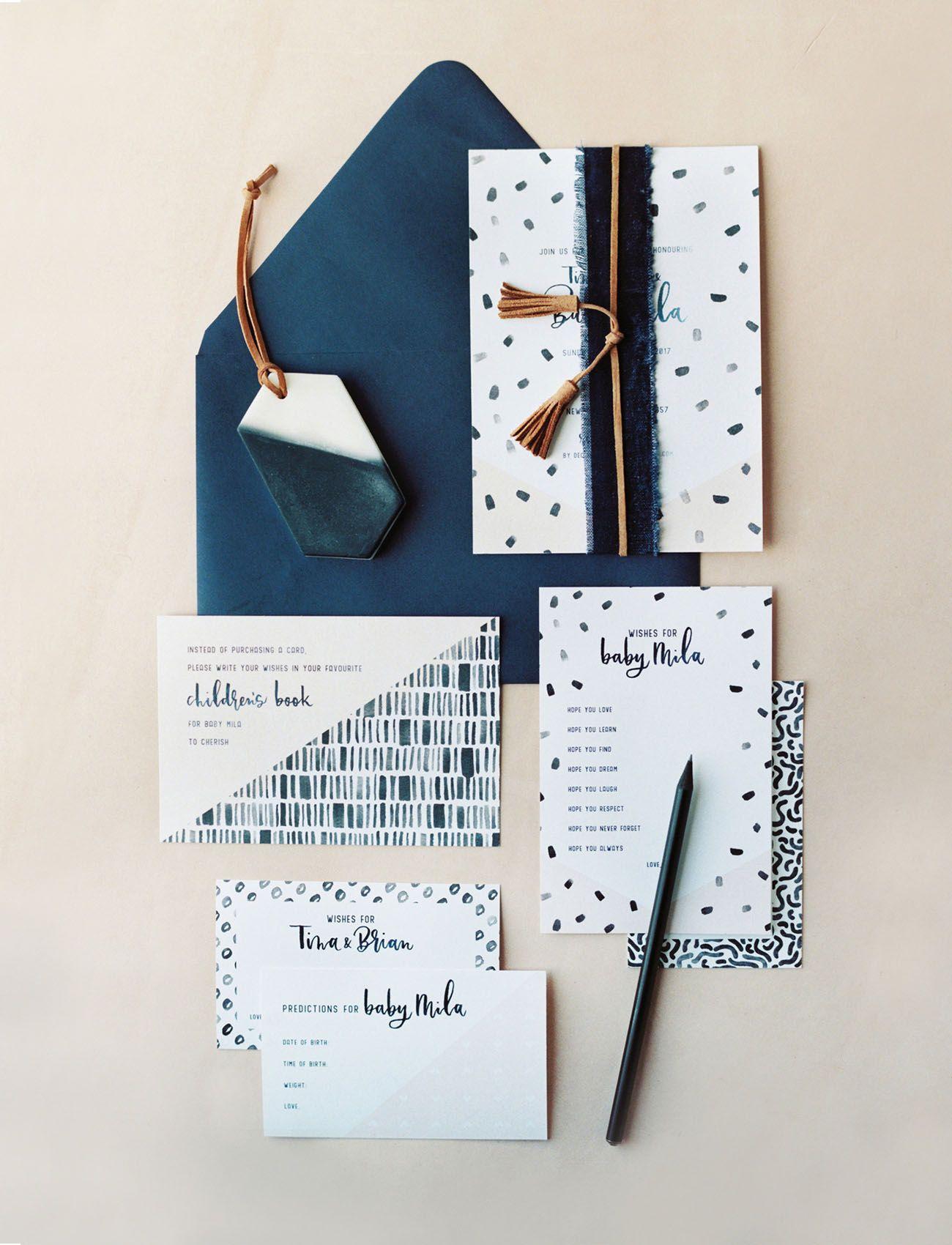 fun modern wedding invitations%0A A Refreshingly Stylish   Modern Take on the Baby Shower