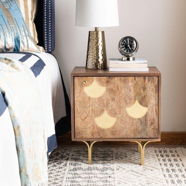 Seitz Nightstand In 2020 Furniture Wood Storage Nightstand