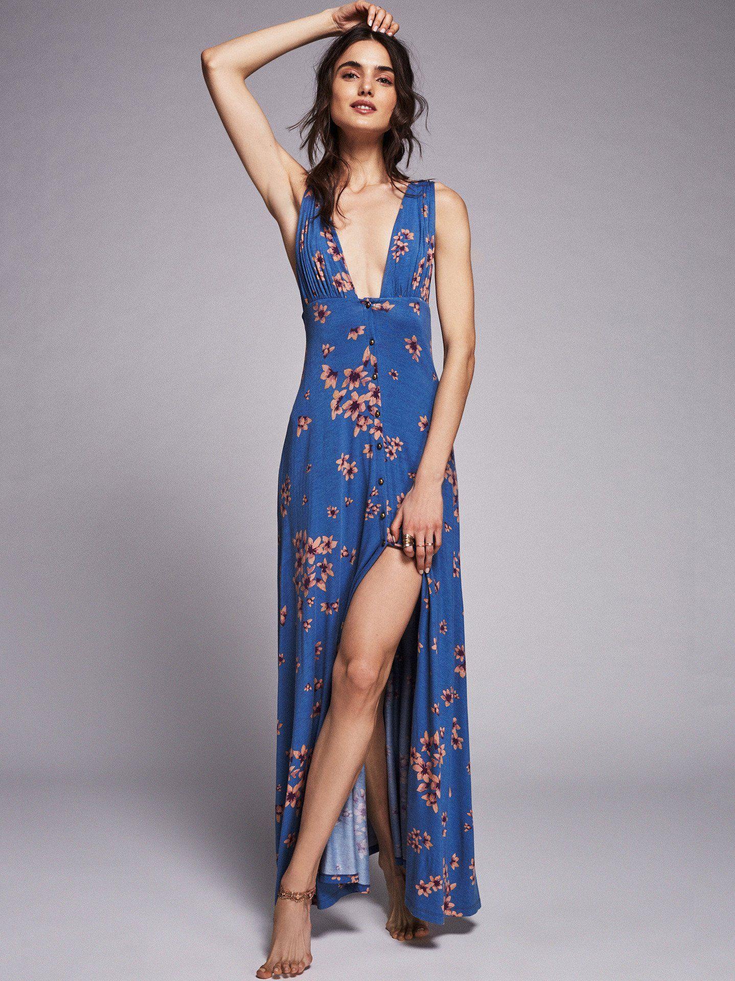 Deep vneck bohemian floral maxi dress pinterest floral maxi
