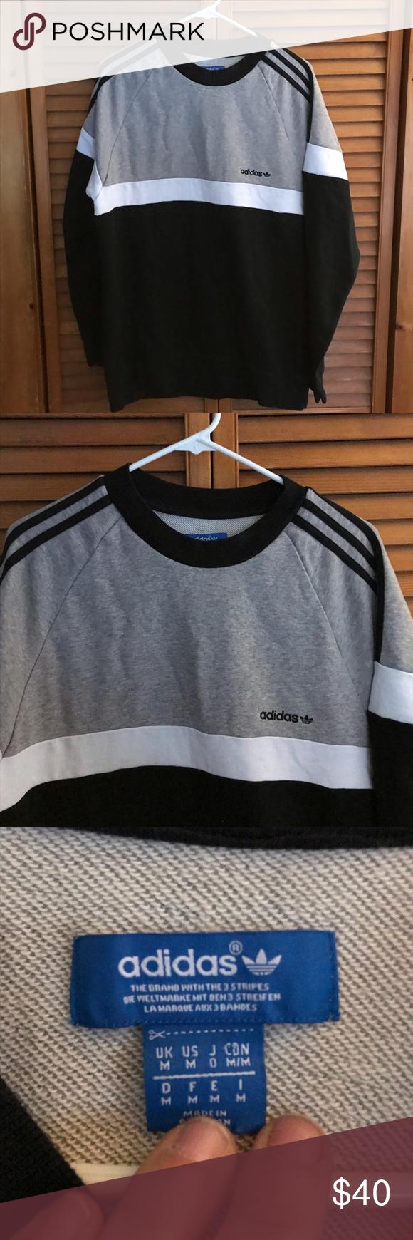 Predownload: Adidas Crewneck Sweatshirt Crew Neck Sweatshirt Sweatshirts Adidas Shirt [ 1740 x 580 Pixel ]