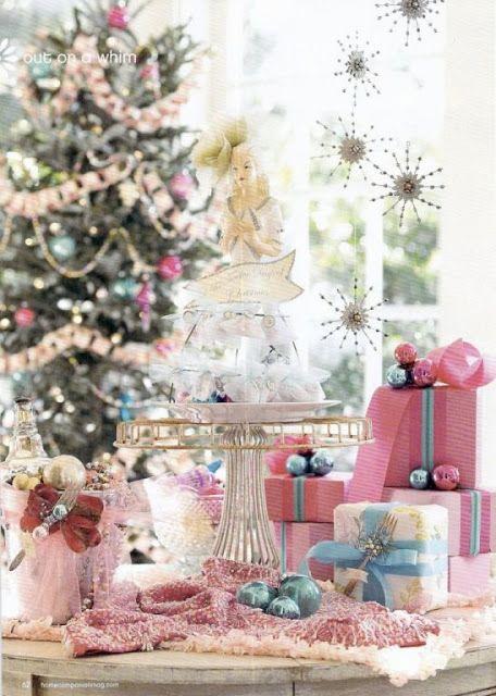 Decoração de Natal romântica