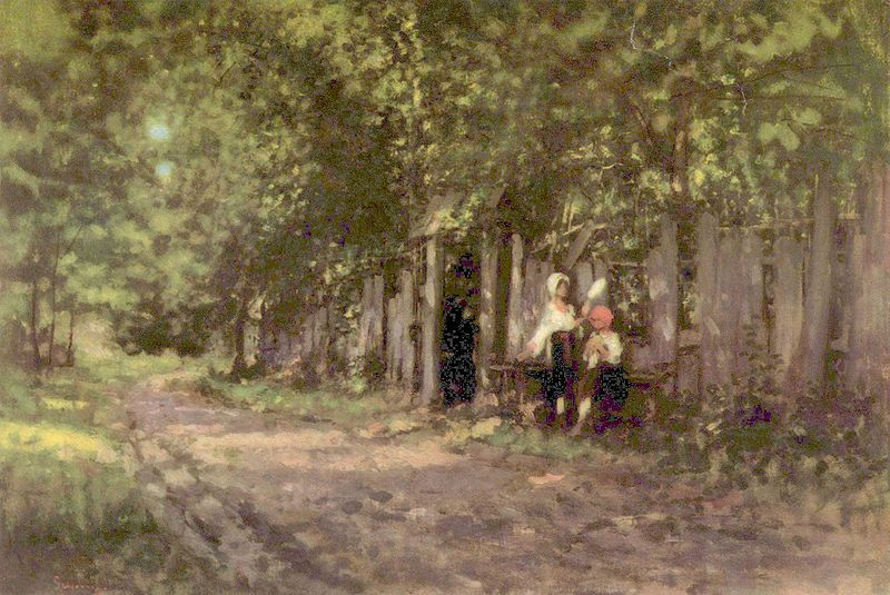 Nicolae Grigorescu - Maidens at the entrance