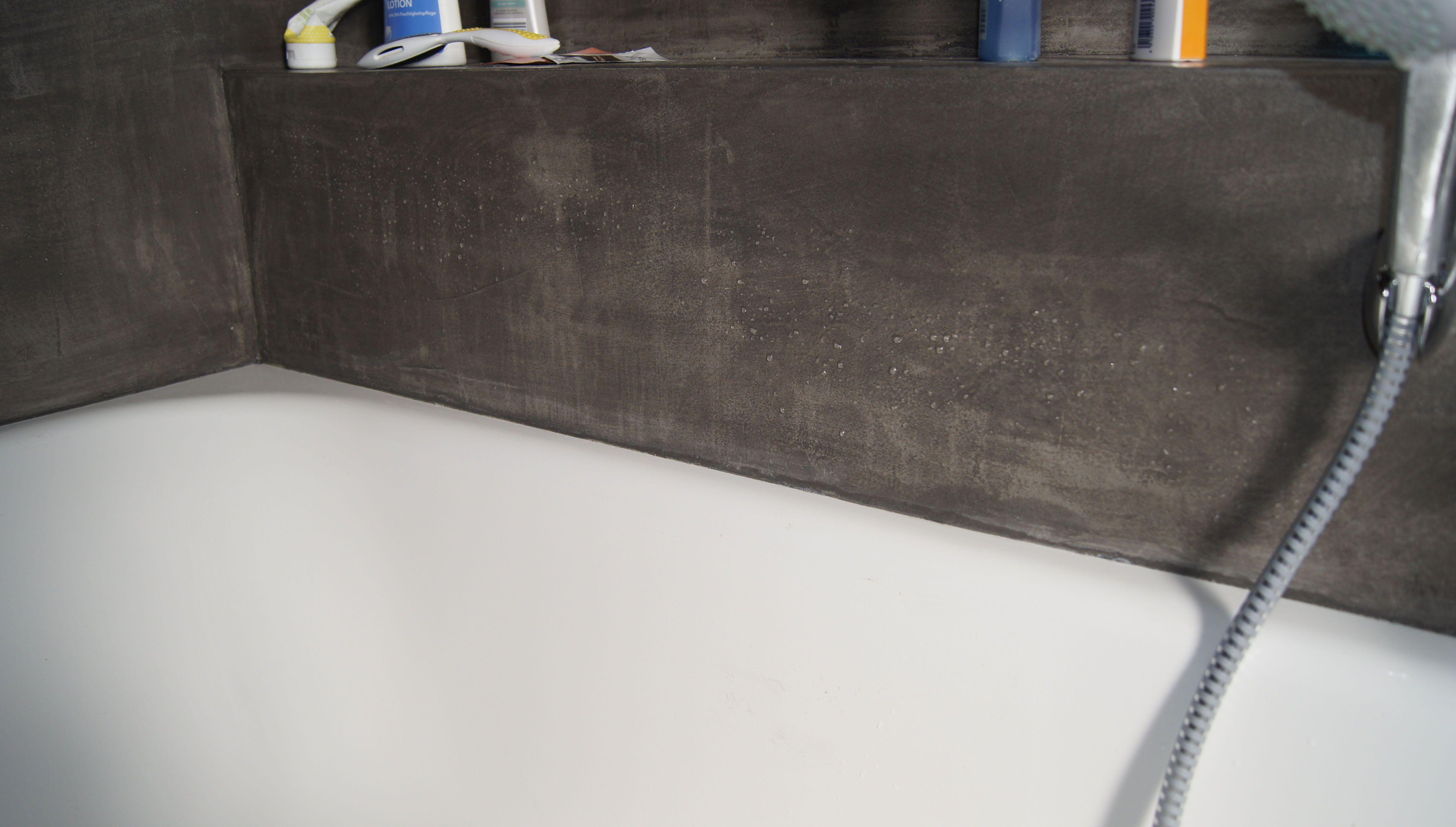 Zementbeschichtung Wand In Bad Und Dusche Wasserfest Versiegelt By Fugenlos Modern De Fugenloses Bad Bad Dusche