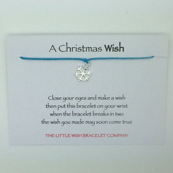 A Christmas Wish With Poem Christmas Wish By Coastalloveuk Christmas Wishes Wish Bracelets Etsy