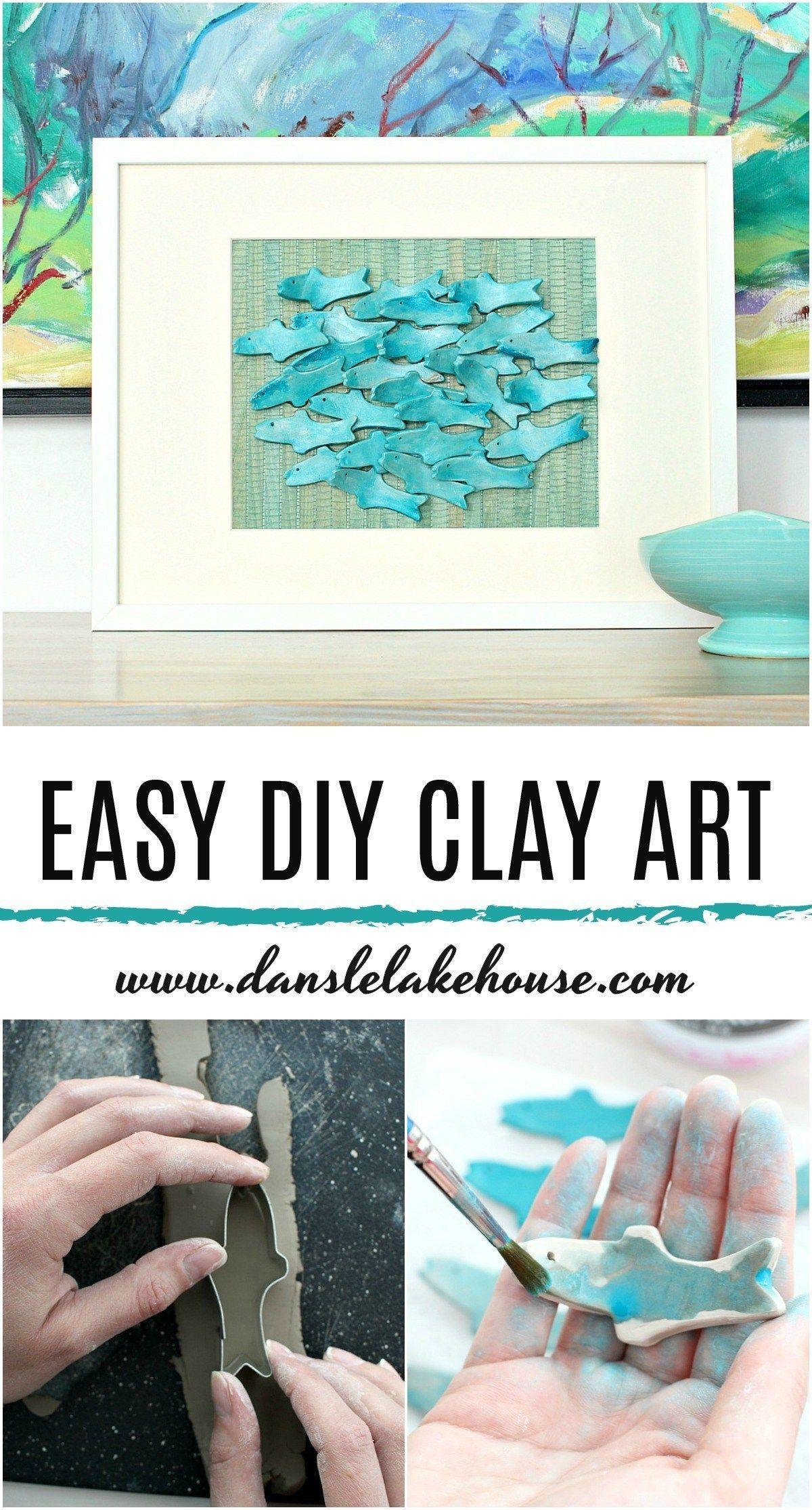 Easy DIY Clay Fish Art – Modern Coastal Handmade Decor – Hobbies paining body for kids and adult