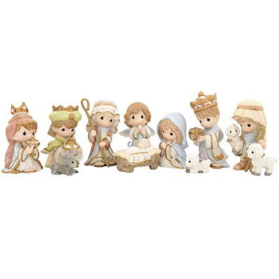 Come Let Us Adore Him Precious Moments Nativity Set  Belleza
