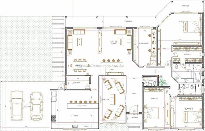 Planta de casas americanas Projeto Marinho 2015 Pinterest