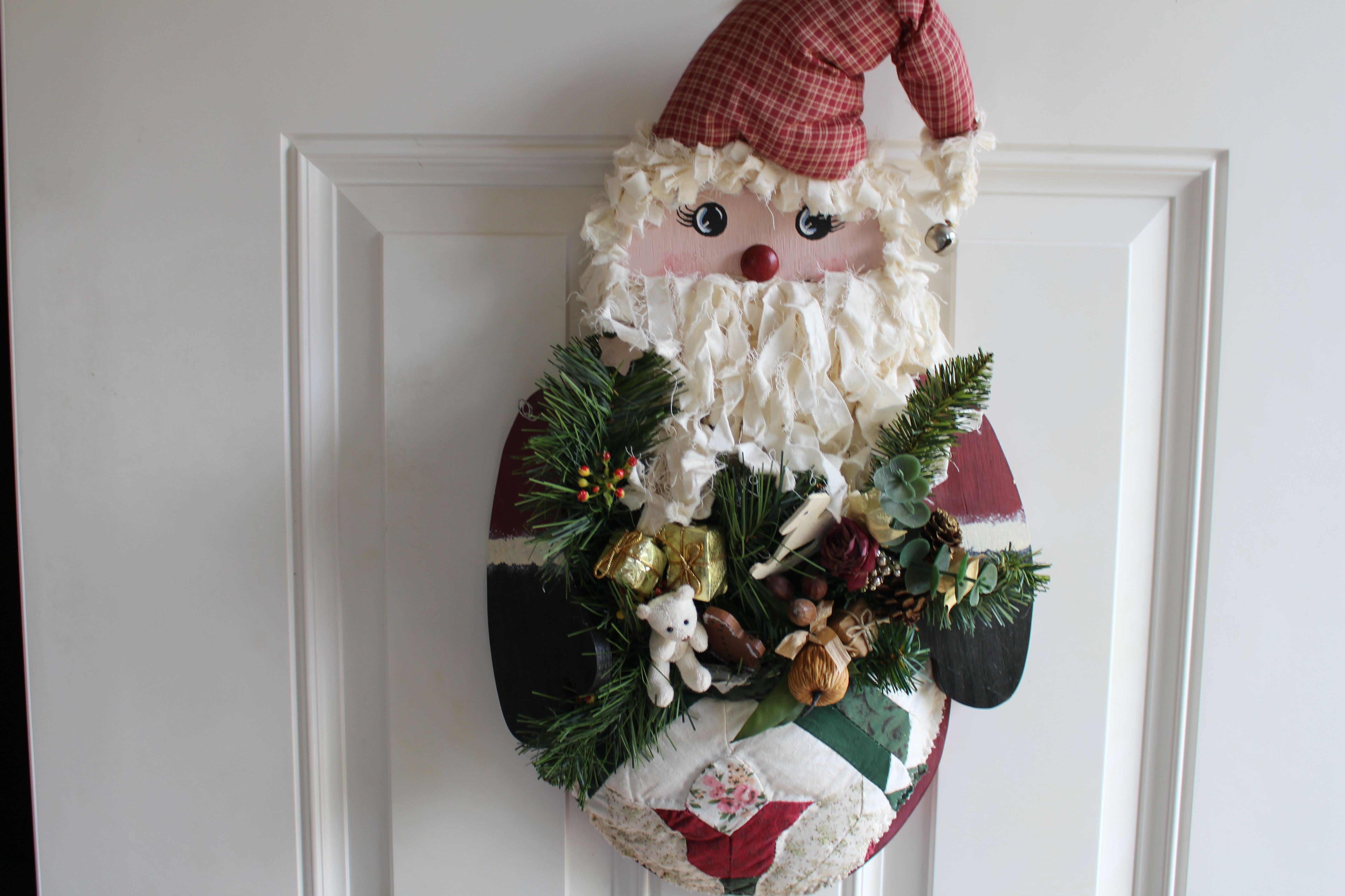 My sister and I made this cute little Santa several years ago.