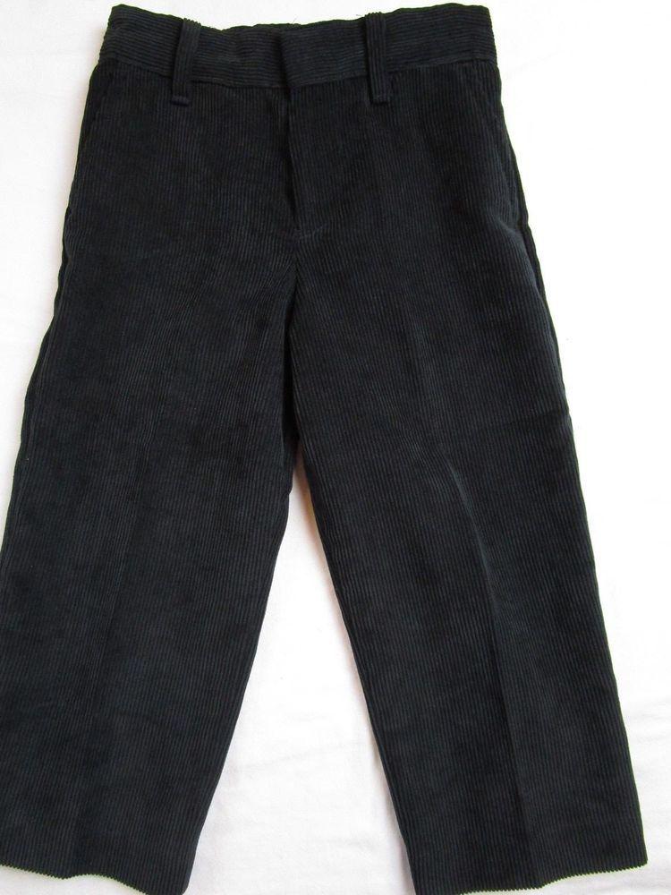 Toddler Boy Size 3t Black Corduroy Dress Pants Slacks Class Club