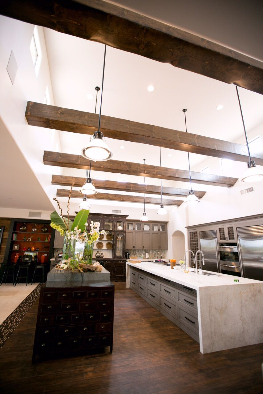 cosa belle interiors contemporary kitchen with custom ceiling beams rh pinterest com