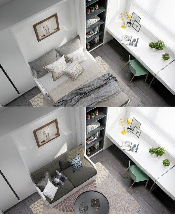 Interiorwhite contemporary interior design concept for small house modern master bedroom lighting decor nightstand furniture ideas loft headboard cushion