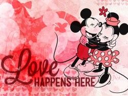 Mickey Minnie Love official Disney wallpaper perfect for pocket scrapbooking or Project Life See more info: http://capturingmagic.me/DisneyProjectLife