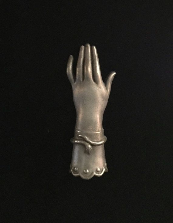 antique french ladies hand with snake bracelet statuette paperweight